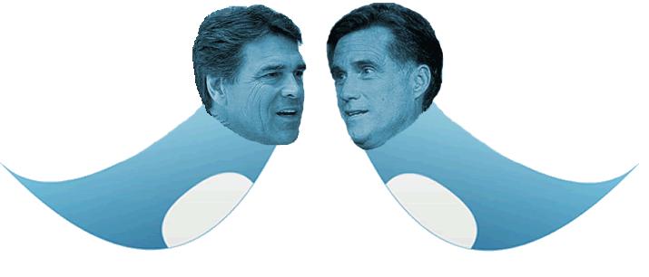 Twitter Perry vs Twitter Romney
