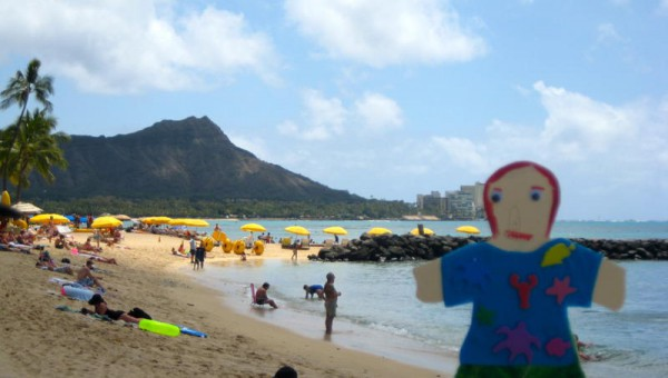 Flat Stanley on the Beach