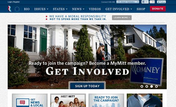 Mitt Romney's Campaign Website