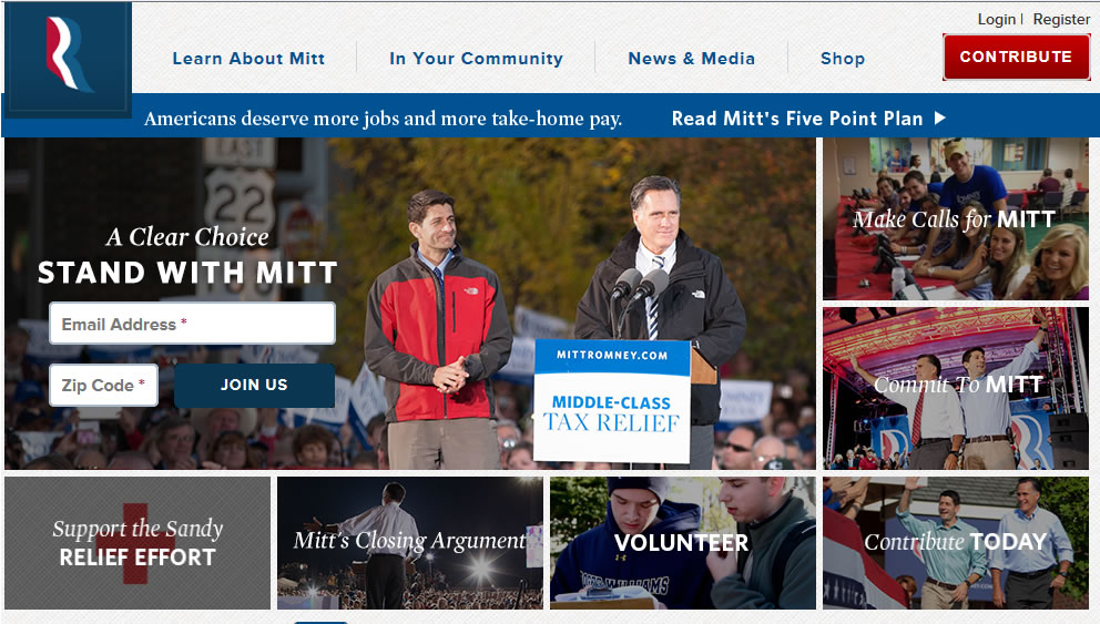 Romney's Web Page