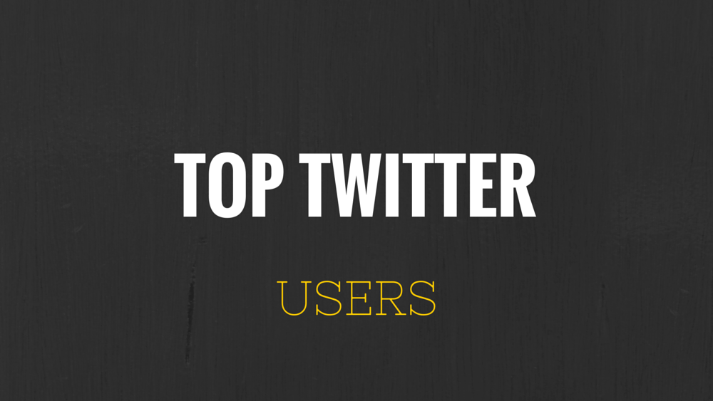 Top Twitter Users
