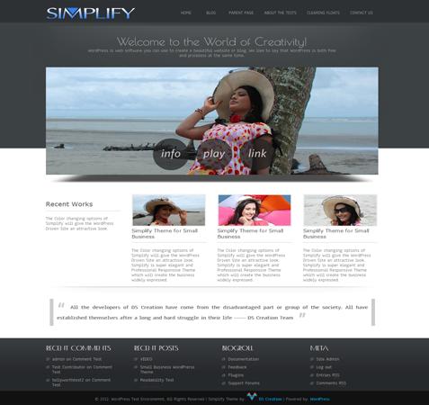 Free Simplify WordPress Theme