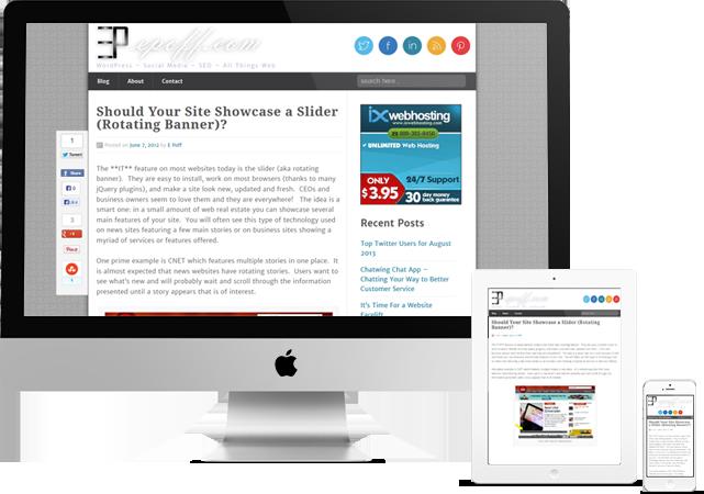 Responsive Web Design Sample for epoff.com
