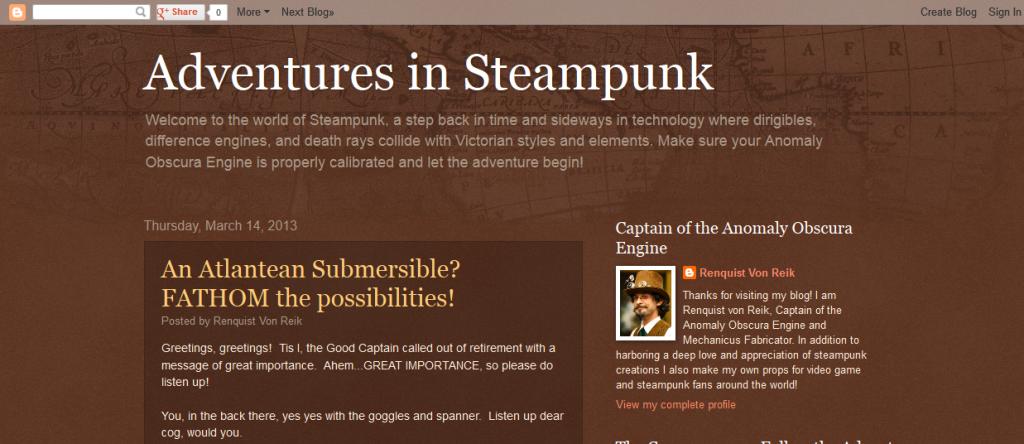 Adventures in Steampunk