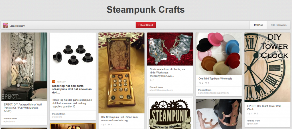 Pinterest - Steampunk Crafts