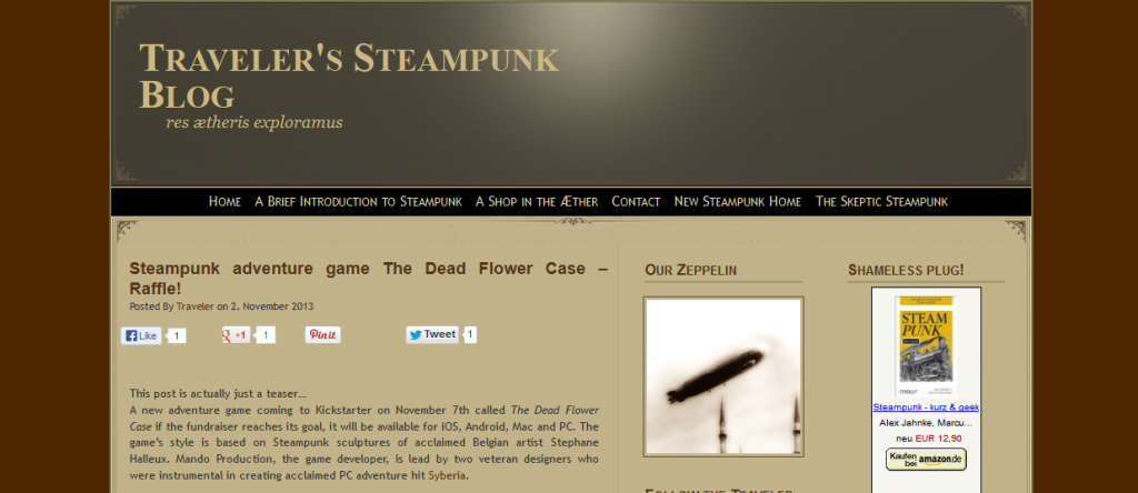 Thoughts on Steampunk by Traveler